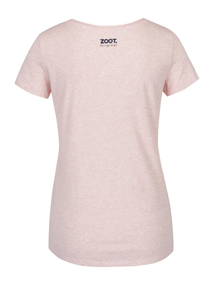 Tricou roz deschis cu print si mesaj -  ZOOT Originál Science