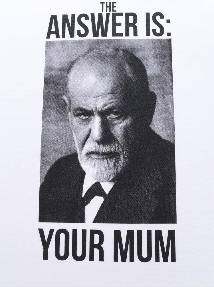 Tricou alb unisex cu print - ZOOT Originál Freud