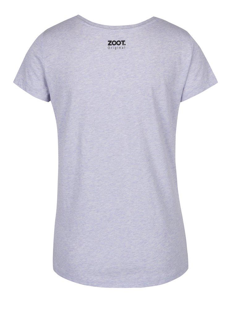 Tricou gri melanj din bumbac organic pentru femei - ZOOT Originál Atom