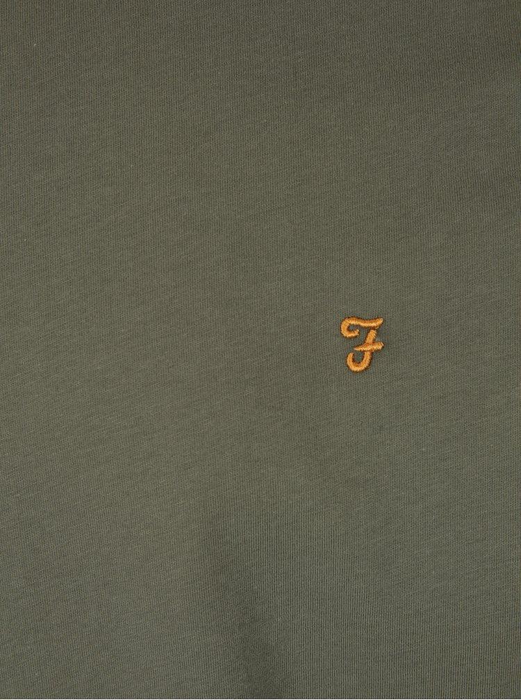Tricou kaki din bumbac - Farah Groves