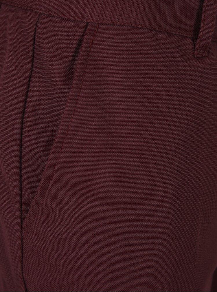 Vínové chino kalhoty Farah Basset