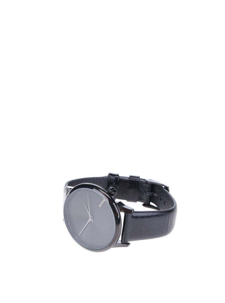 Ceas unisex cu curea din piele neagra - Komono Estelle Deco