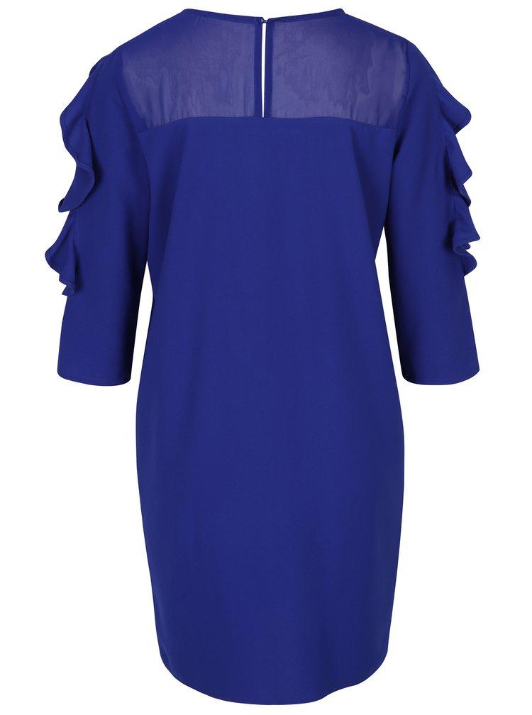 Rochie albastra cu volane -  DÉCCADA