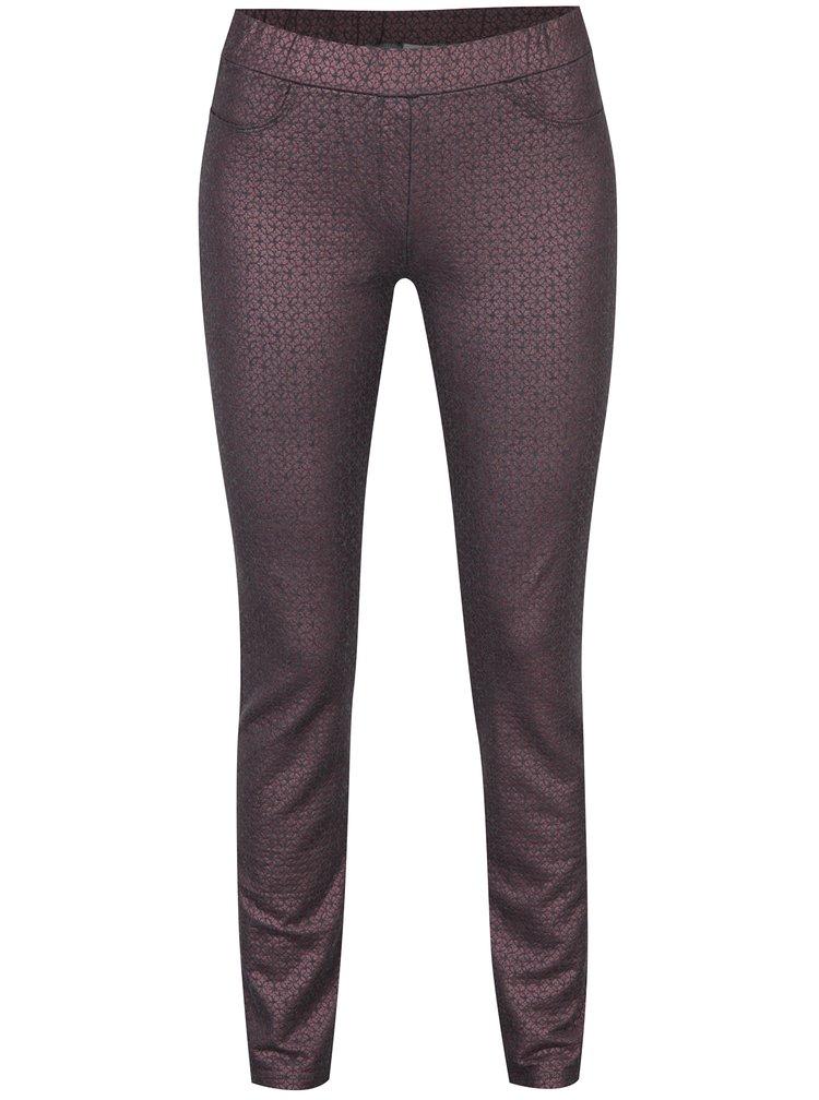 Fialové třpytivé kalhoty DEHA