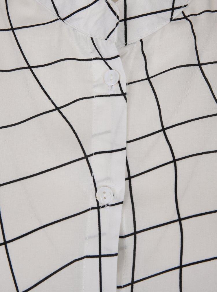 Camasa crem cu print geometric - DÉCCADA