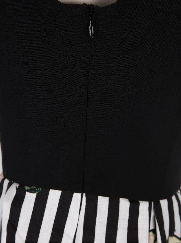 Černo-bílé vzorované šaty Dolly & Dotty Vanessa