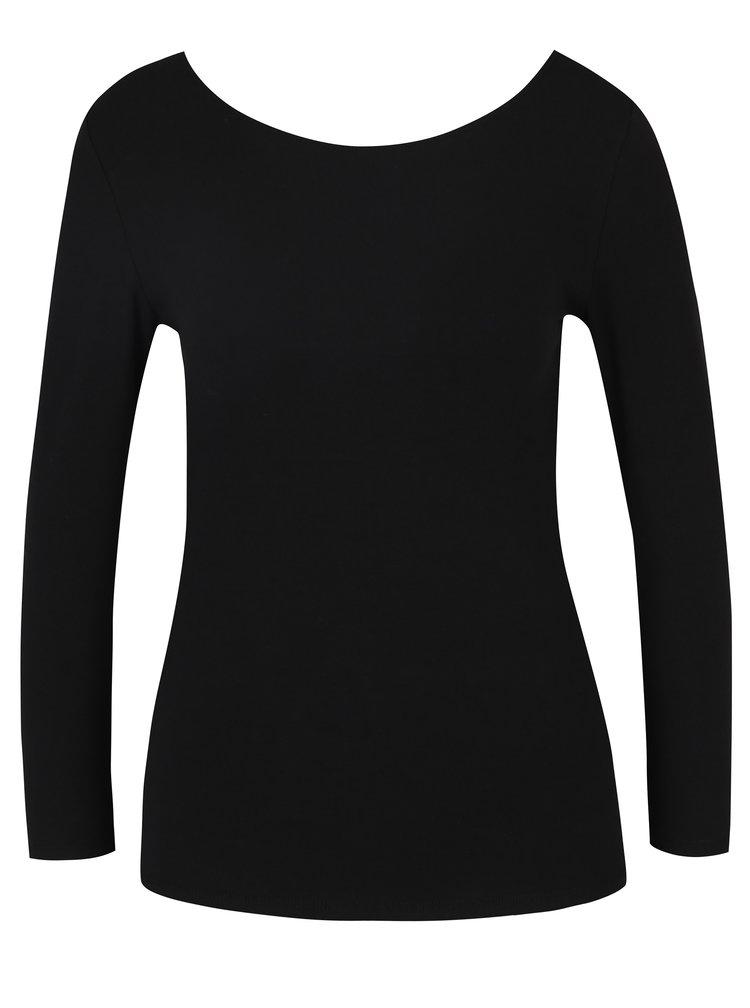 Černé tričko s překříženými pásky na zádech ONLY Live