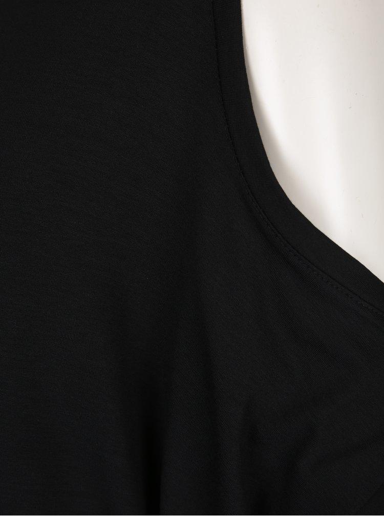 Černý top s průstřihy na ramenou ZOOT