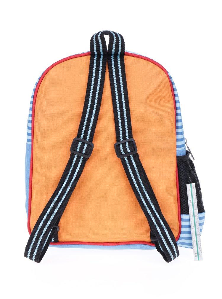 Oranžovo-modrý klučičí batoh Tyrrell Katz Working Wheels