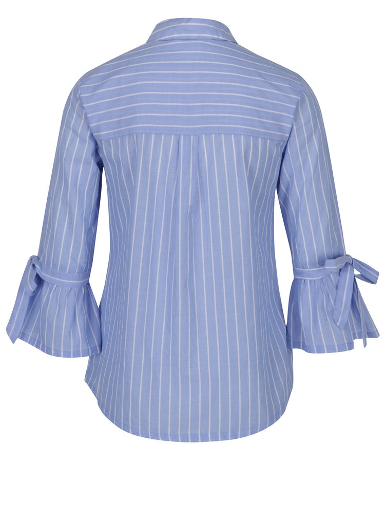 Camasa albastra cu dungi si maneci clopot Dorothy Perkins