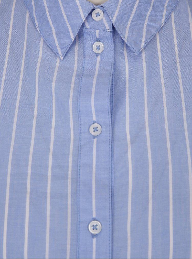 Modrá pruhovaná košile s 3/4 zvonovými rukávy Dorothy Perkins