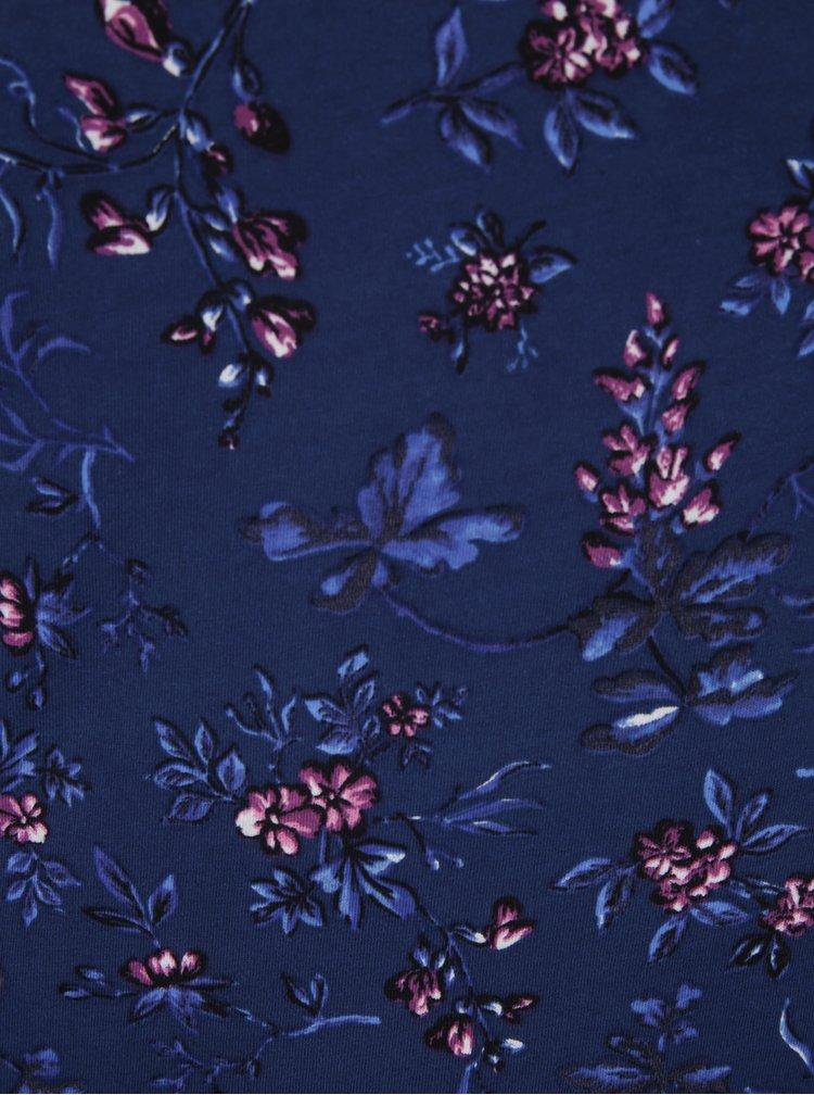 Tricou albastru cu model floral Dorothy Perkins