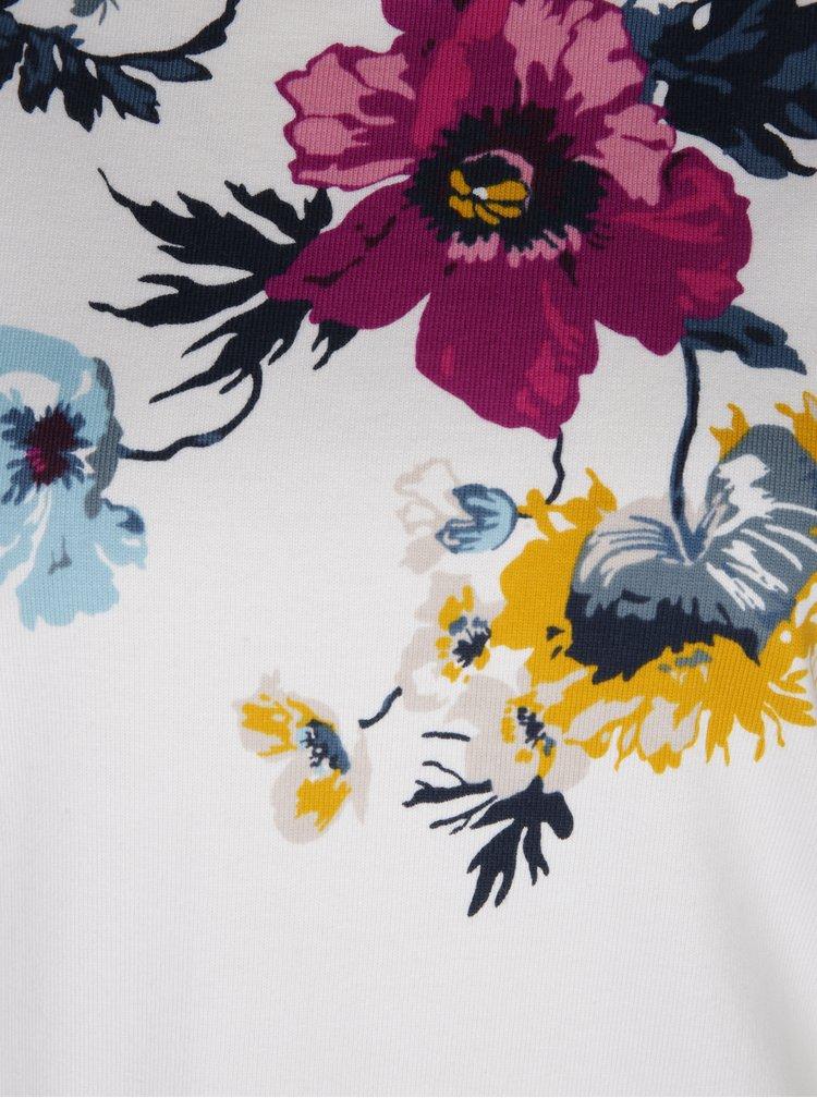 Béžová květovaná dámská mikina Tom Joule