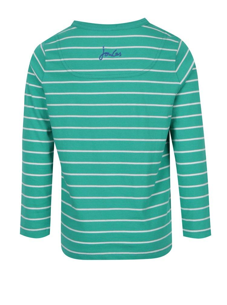Zelené pruhované klučičí tričko s nášivkou Tom Joule