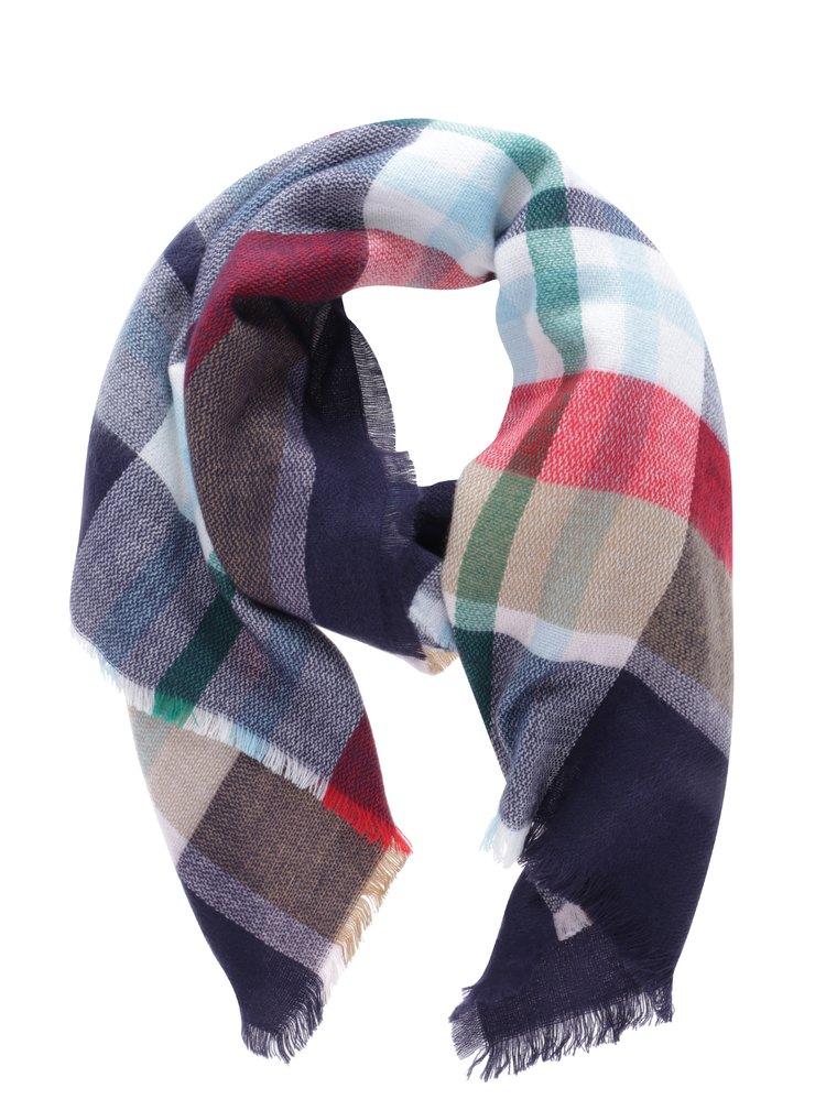 Modro-červený kostkovaný dámský šátek Tom Joule