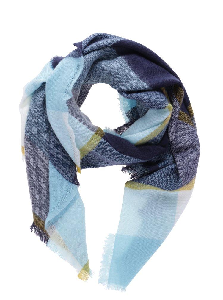 Modrý kostkovaný dámský šátek Tom Joule