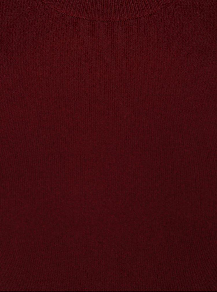 Vínový svetr s balónovými rukávy Miss Selfridge