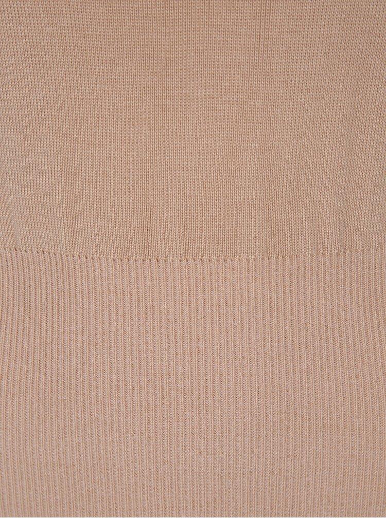 Béžový svetr s balónovými rukávy Miss Selfridge