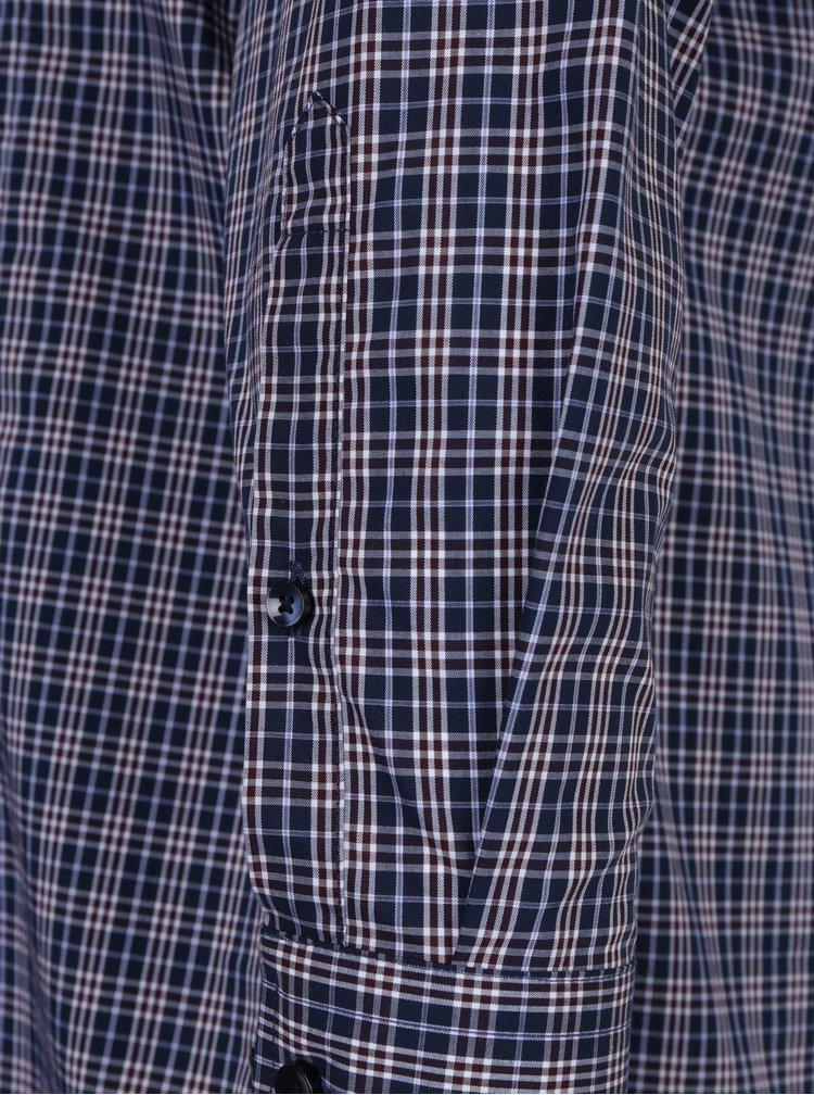Tmavě modrá košile s bílo-červenými kostkami Seidensticker