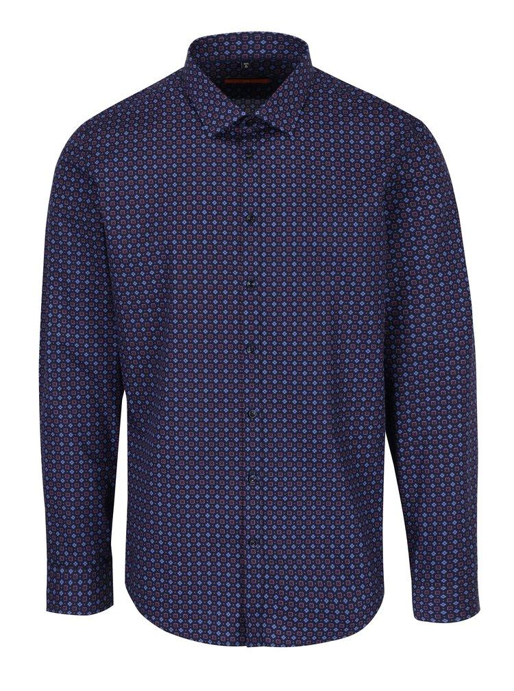 Tmavě modrá květovaná košile Seidensticker