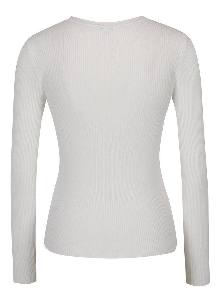 Krémový svetr se šňěrováním Miss Selfridge