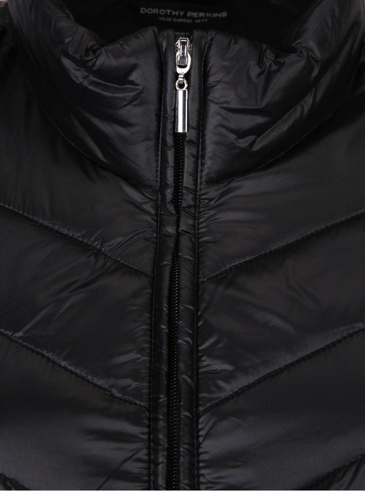 Černá prošívaná bunda Dorothy Perkins Curve
