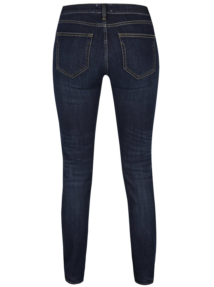 Tmavě modré skinny džíny Selected Femme Elena