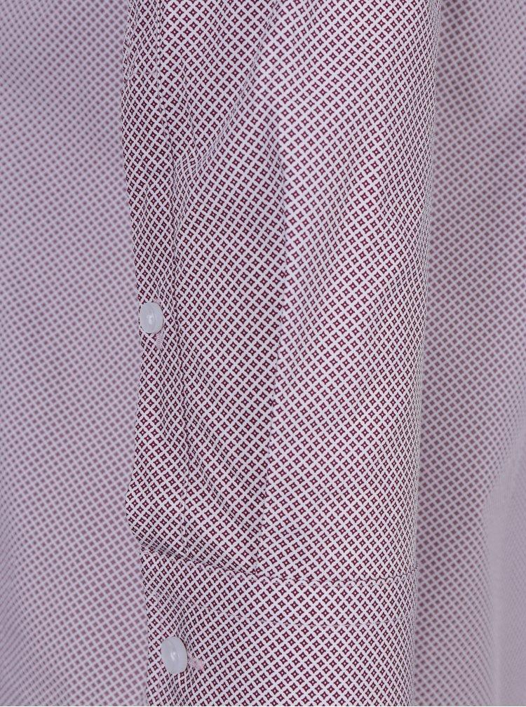 Vínová vzorovaná formální košile Seidensticker