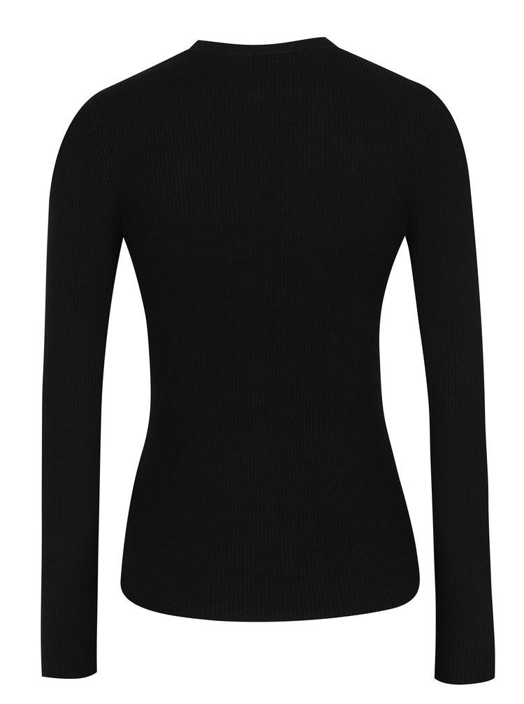 Černý svetr s chokerem a sponou Miss Selfridge