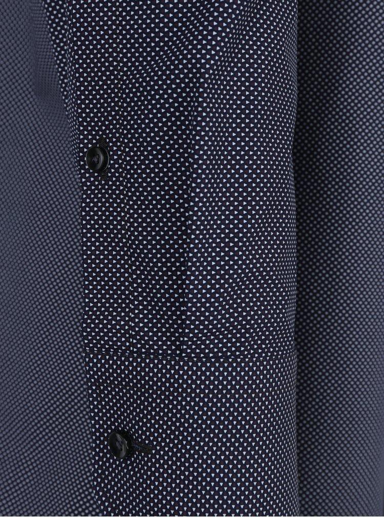 Camasa bleumarin cu model alb-visiniu - Seidensticker