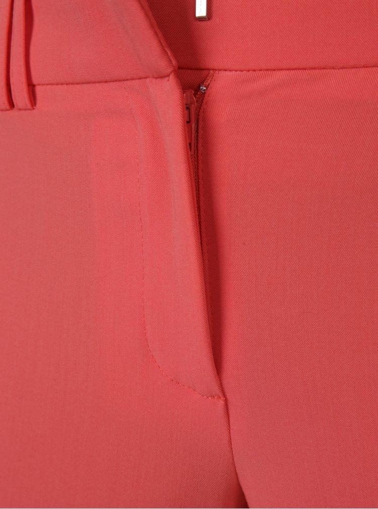 Korálové zkrácené kalhoty Dorothy Perkins Petite