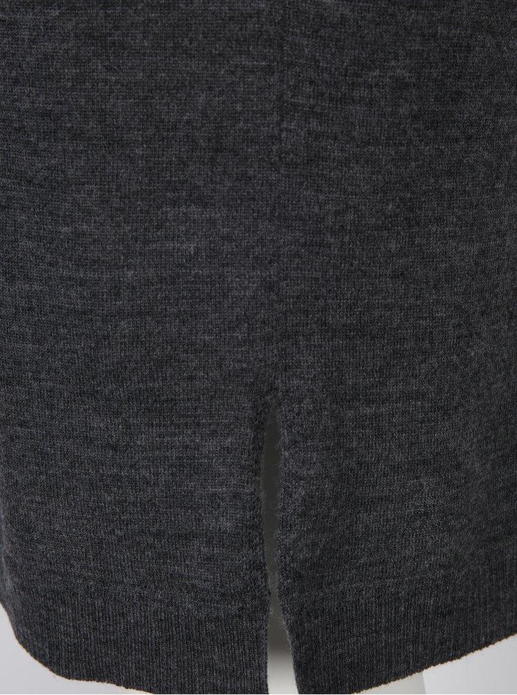 Tmavě šedé svetrové vlněné šaty Selected Femme Eileen