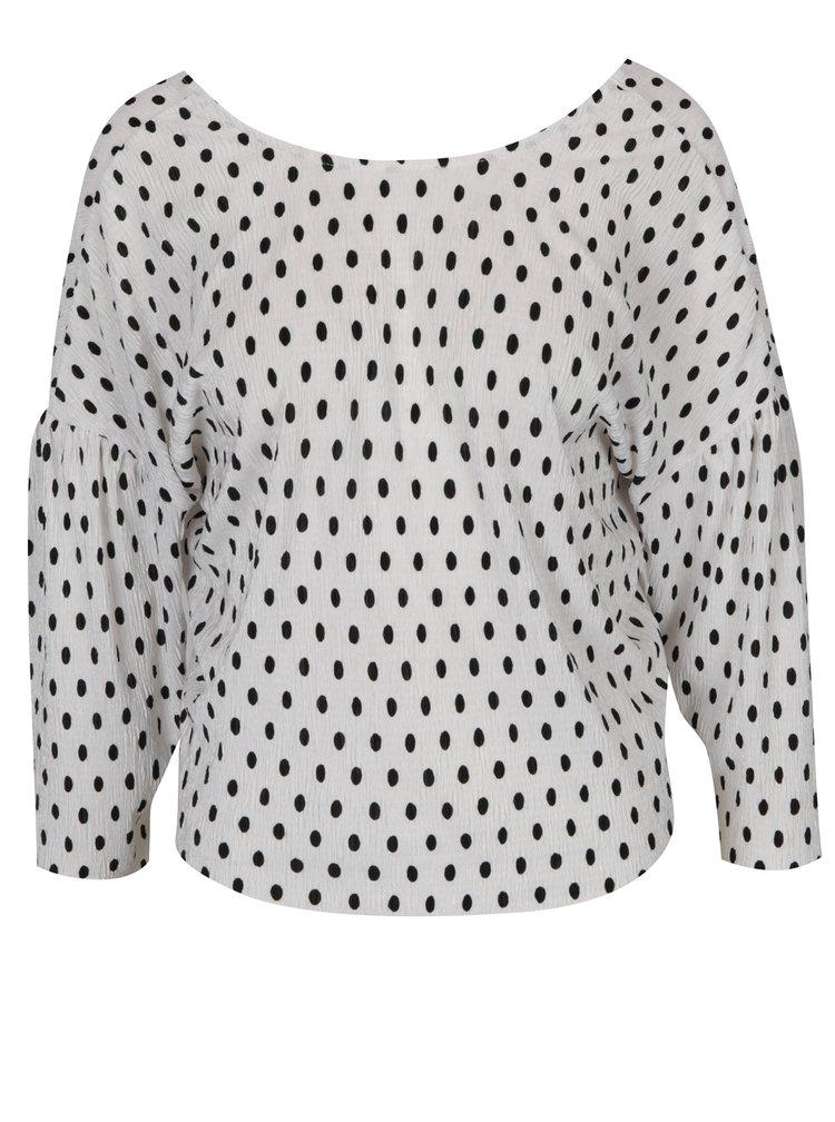Bluza crem cu buline negre - Miss Selfridge