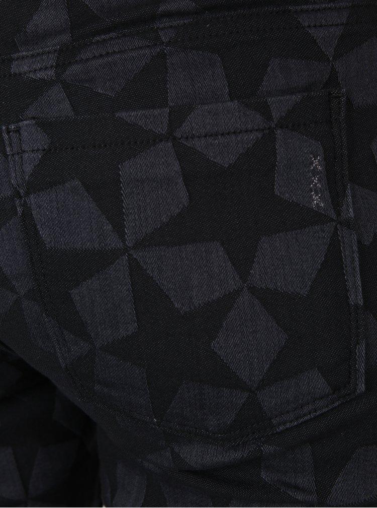 Tmavě šedé vzorované džíny Scotch & Soda