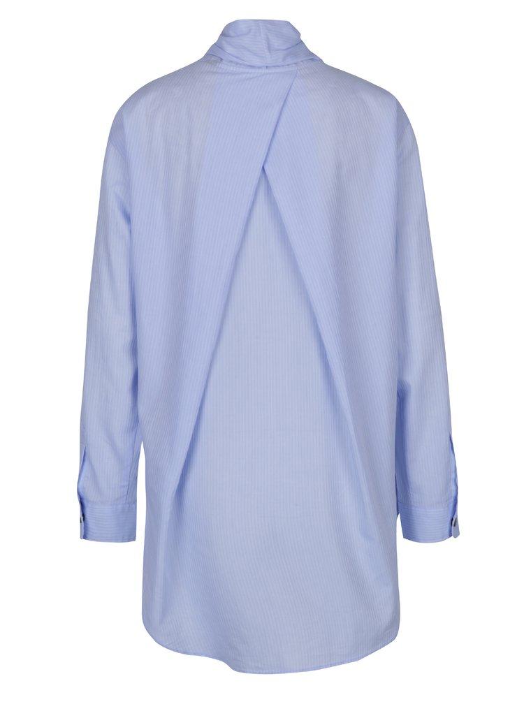 Modrá pruhovaná košile s vázankou Scotch & Soda