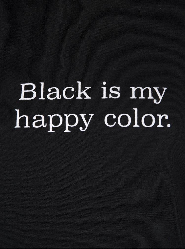 Bluză neagră cu print TALLY WEiJL