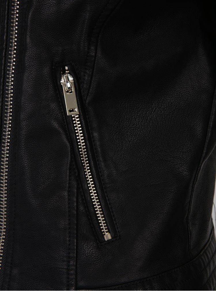 Černý koženkový křivák Miss Selfridge