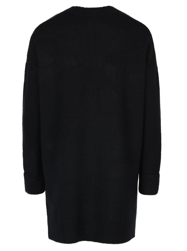 Černý dlouhý kardigan s kapsami Miss Selfridge