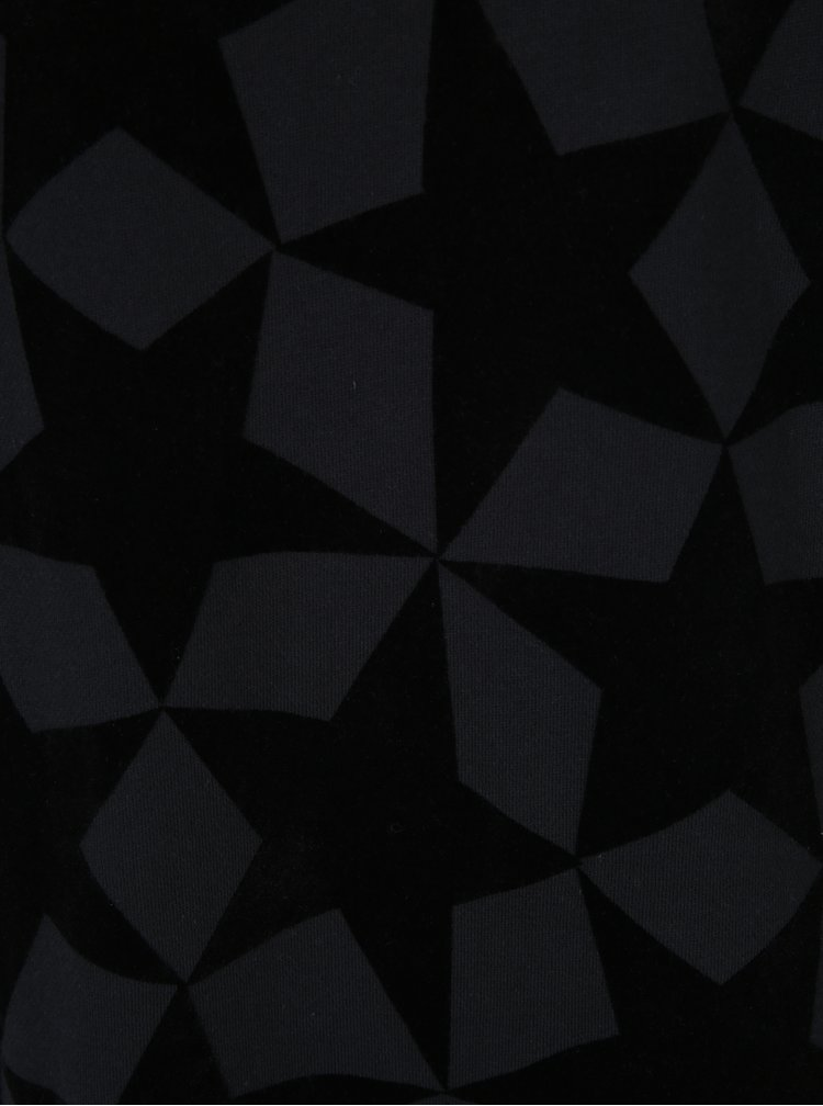 Rochie neagră cu model geometric și mâneci 3/4 Scotch & Soda