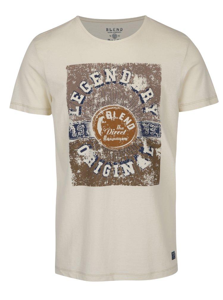 Krémové tričko s potiskem Blend