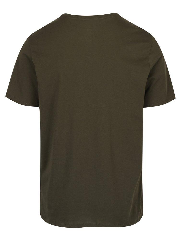 Khaki pánské triko s krátkým rukávem Nike