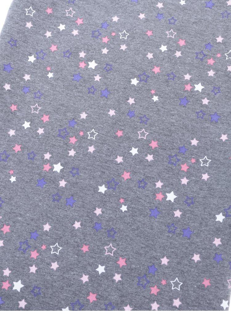 Šedý holčičí šátek s potiskem hvězd 5.10.15.