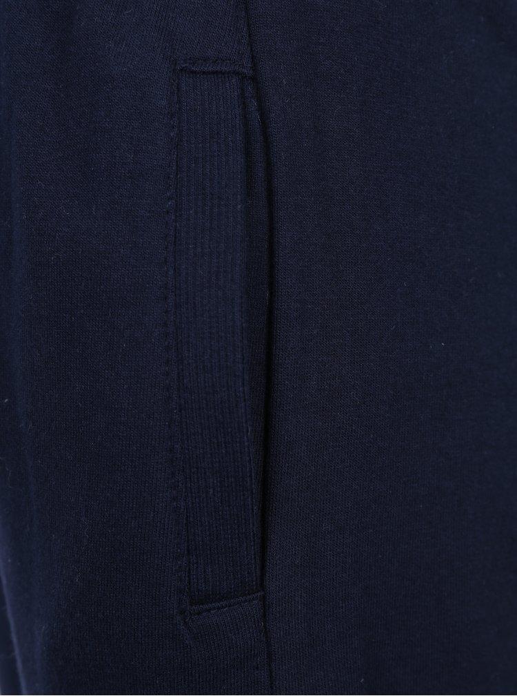 Tmavě modré holčičí tepláky s pružným pasem a kapsami 5.10.15.