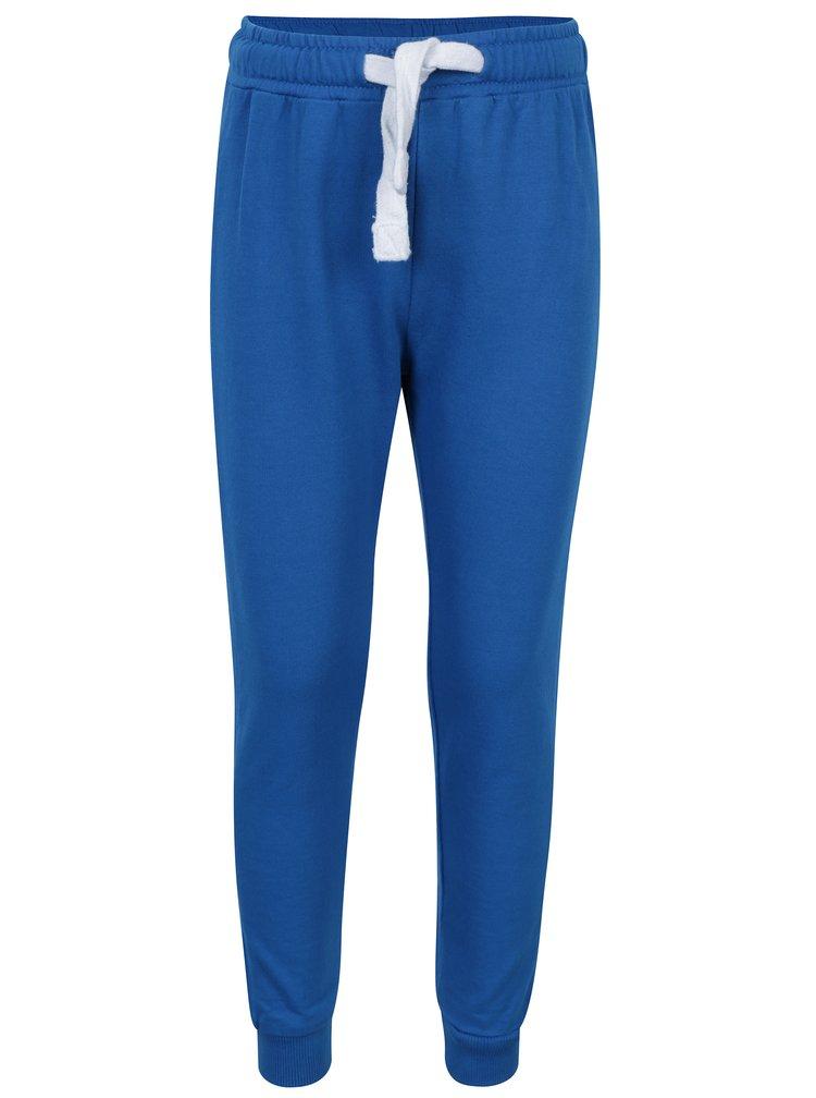 Modré chlapčenské tepláky s pružným pásom a vreckami 5.10.15.