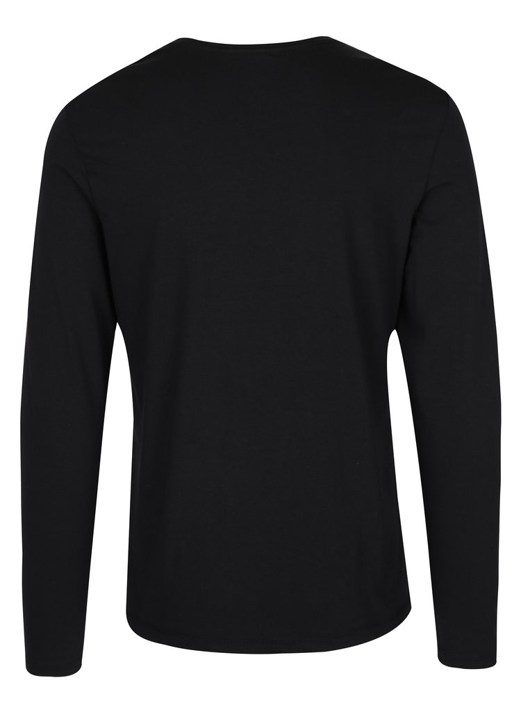 Bluză neagră de bumbac cu print - Blend