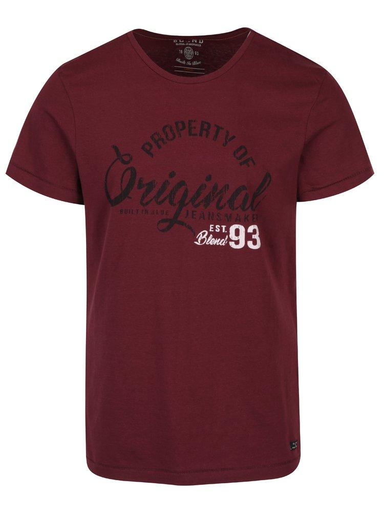 Vínové tričko s potiskem Blend