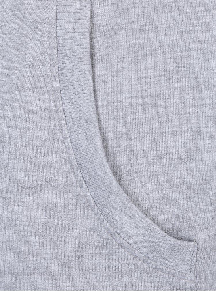 Světle šedá holčičí žíhaná mikina s kapucí 5.10.15.