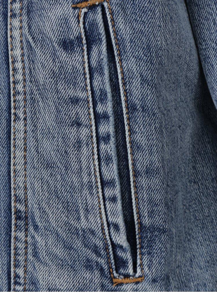 Světle modrá džínová bunda s umělou kožešinou Levi's®