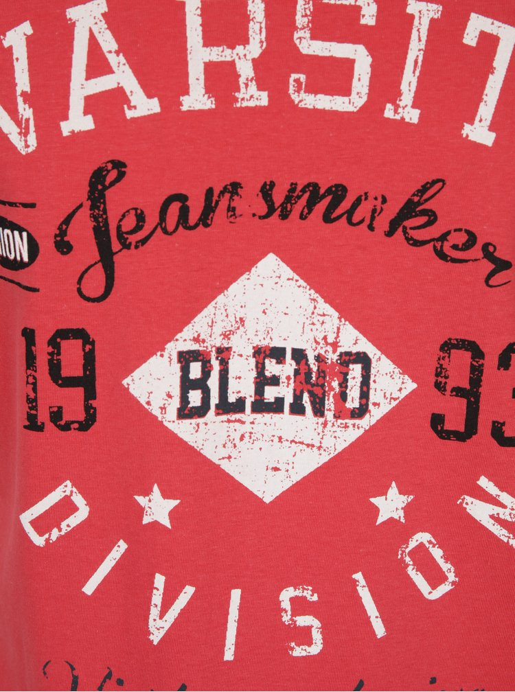 Tricou rosu din bumbac cu print - Blend
