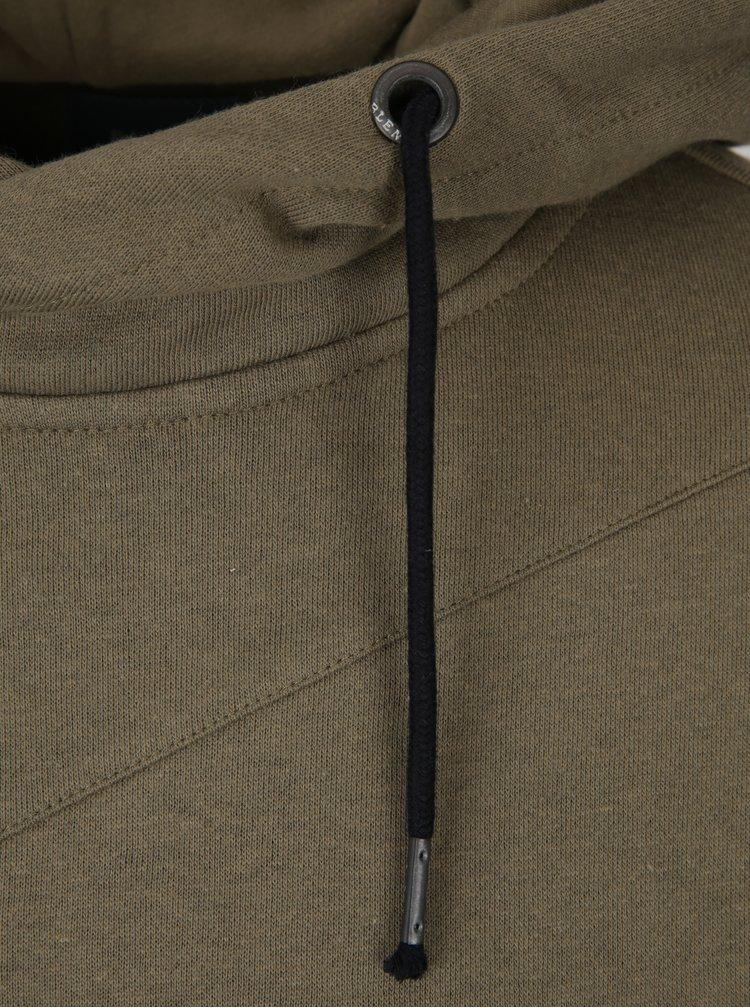 Khaki pánská mikina s kapucí Blend
